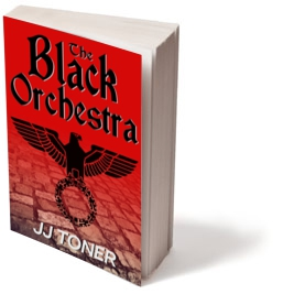 Black Orchestra book cover standing upright