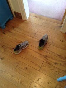 Ghostly feet