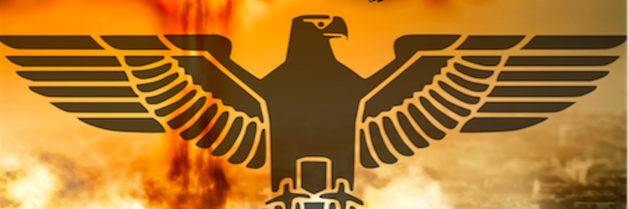 NAzi Eagle with bomb exploding in the background